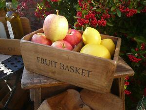 NEW-Farmhouse-Fruit-Basket-bowl-box-kitchen-storage-old-rustic-style
