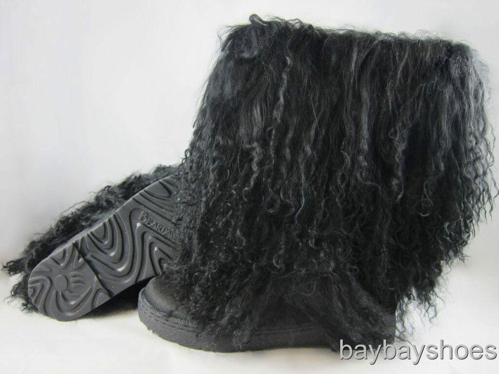 Bearpaw Boetis Ii 2 11 Boot Black Curly Lamb Fur Sheepskin Us Womens Sizes