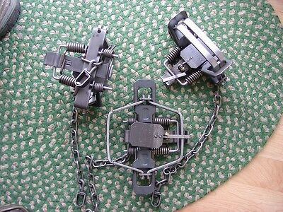 12 - Bridger 3 Offset 4-coil Traps, Trapping, Coyote, Bobcat