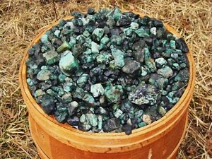 3000 Carat Lots of Unsearched Natural Emerald Rough + a FREE Faceted Gemstone