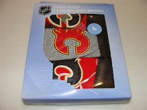 Calgary-Flames-NHL-Hockey-Age-6-Set-of-3-Piece-Boys-Underwear-Briefs-Box-Set