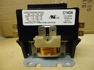 Packard C140A 40 AMP 24 VAC Single 1-Pole Definite Purpose Contactor HVAC