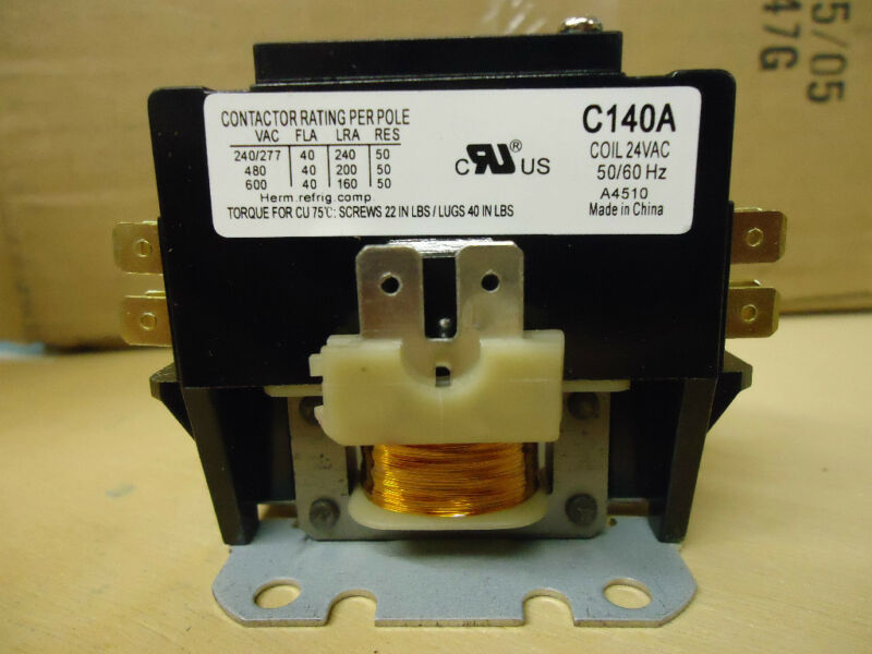 Packard C140A 40 AMP 24 VAC Single 1-Pole Definite Purpose Contactor HVAC