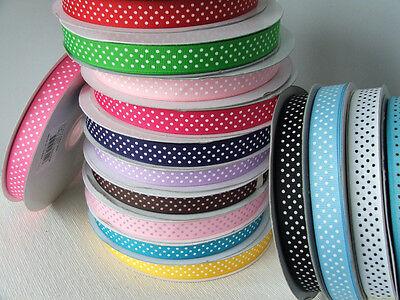 Swiss Dot Ribbon (Swiss dot grosgrain ribbon 5/8th inch  - 2m lengths)