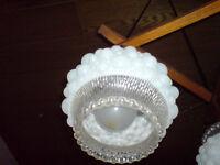 Lampe, mit 3 Glaskuppeln in cooler Milchglas-Optik Nordrhein-Westfalen - Heek Vorschau