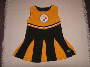 NFL-Pittsburgh-Steelers-Girls-Cheerleader-Dress-Sz-4T-VGUC