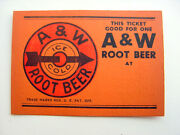 A w Root Beer Sign