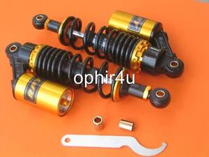 11-280mm-A-Pair-Air-Shock-Absorbers-Scooter-Moped-ATV-Black-gold