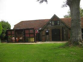 Garden flat one-bedroom in quiet village 4 miles from Godalming. Suit single professional