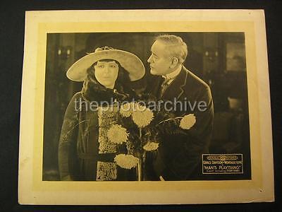 20s Grace Davison Montagu Love Mans Plaything 1920 VINTAGE LOBBY CARD OS94