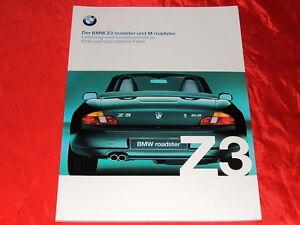 BMW Z3 roadster 1.8 2.0 2.8 + M roadster Prospekt von 1999