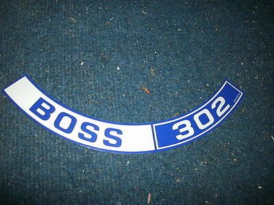1970 Ford Mustang Boss 302 Shaker Air Cleaner Top Lid Decal Sticker Blue/whi