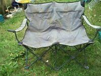 double folding camp chairs
