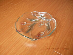 Clear Round Serving Platter