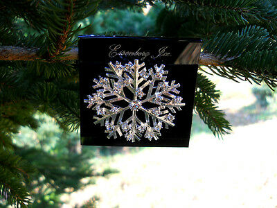 Eisenberg Ice Crystal Snowflake Brooch Pin