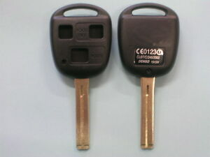 Lexus 3 Button Remote Key Shell IS200 GS300 LS400 RX300