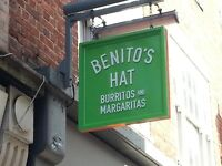 Waiters Benito's Hat Various Locations and New Opening