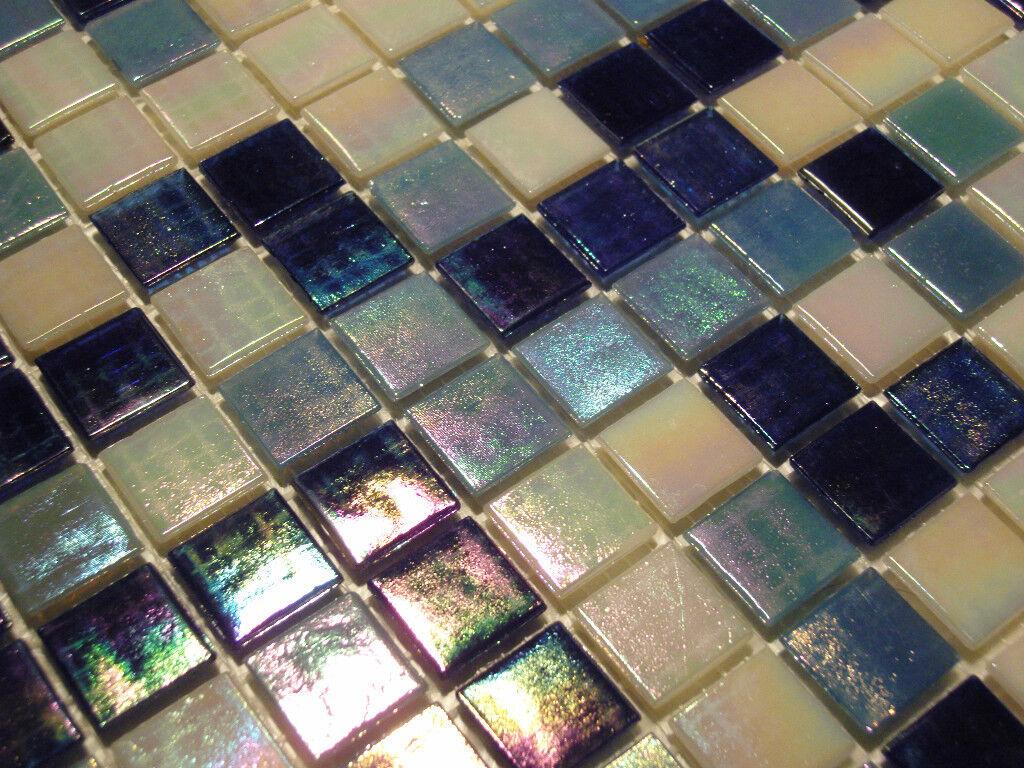 glasmosaik fliesen mosaik perlmutteffekt blau weiss. Black Bedroom Furniture Sets. Home Design Ideas