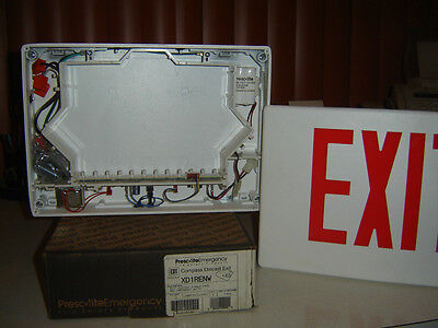 PRESCoLITE EXIT SIGNs - LED Single Faced 120/277vac Wht w/ Red Letters