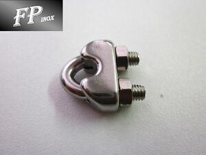 Serre cable étrier inox Pour cable 10 mm