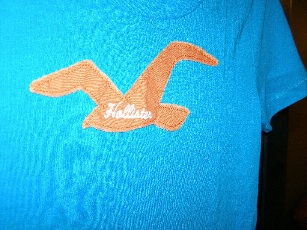 Hollister T-shirt Women V-neck&round Neck 3 Colors/3styles Canvas Applique