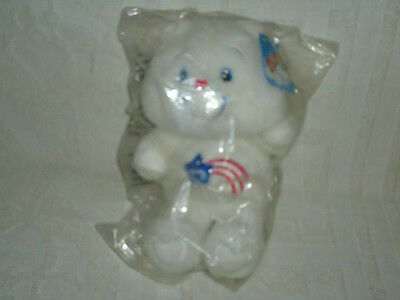 """20TH ANNIVERSARY """"AMERICAN"""" CARE BEAR BY CARLTON CARDS"""