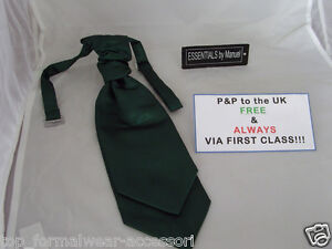 BOTTLE-Green-BOYS-Scrunchie-Ruche-CRAVAT-Tie-The-More-U-Buy-The-More-U-Save