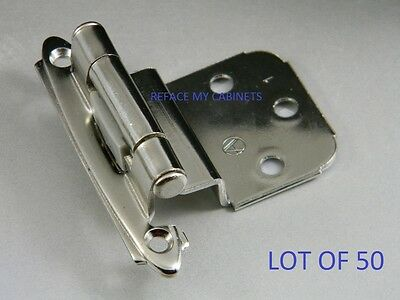 50 Amerock Cabinet Hinges 3/8 Inset Chrome Bp7628-26