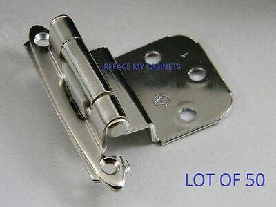 50 Amerock Cabinet Hinges 3/8 Inset Chrome Bp7628-26