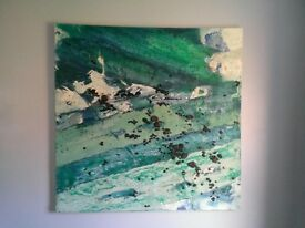 "One Off Original Canvas by Local Artist ""Sea Coal"""