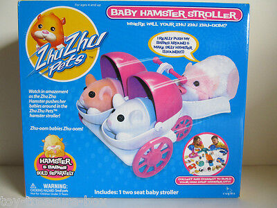 Zhu Zhu Pets Baby Hamster Stroller - Includes 1 Two Seat Baby Stroller