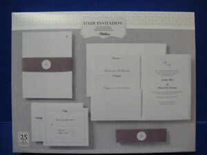 WILTON SILVER HEART POCKET 25CT WEDDING INVITATION POCKET KIT