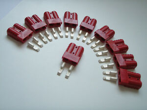 10-X-RED-GENUINE-ANDERSON-PLUG-SB-50-AMP-BATTERY-POWER-CONNECTOR-BULK-RESALE