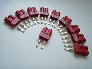10-X-RED-GENUINE-ANDERSON-PLUG-SB-50-AMP-BATTERY-POWER-CONNECTOR-BULK-RESALE