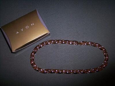 Avon Heavy Gold Tone Link Necklace 16 W/ Extension 18 Bnib Nice
