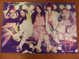 WONDER GIRLS - Wonder Party (B Ver.) [OFFICIAL] POSTER K-POP *NEW*