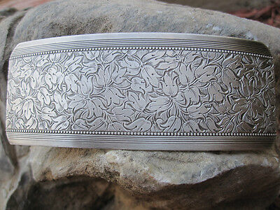 Large Antiqued Silver Plated Brass Hair Barrette for Thick Hair New Made in USA