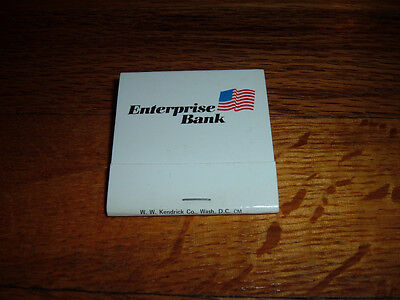 Vintage Enterprise Bank Falls Church Reston Virginia Matchbook Leesburg Pike Old