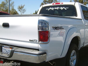 toyota tundra truck 2004 2006 tfp abs chrome tail light cover insert accent ebay. Black Bedroom Furniture Sets. Home Design Ideas