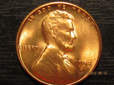 1953 S LINCOLN WHEAT CENT    SOLID   BU   COIN
