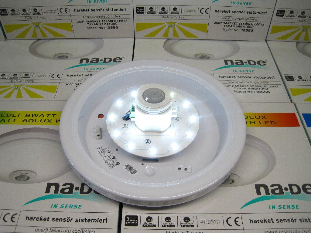 led deckenleuchte deckenlampe lampe mit bewegungsmelder sensor leuchte neu ovp eur 44 98. Black Bedroom Furniture Sets. Home Design Ideas
