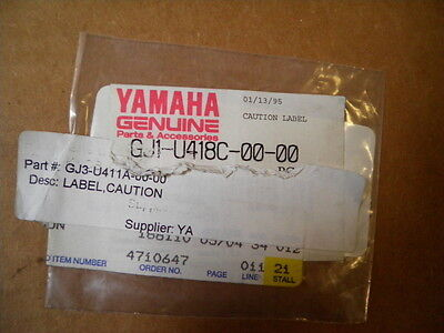 New NOS 95-00 Yamaha Wave Raider Venture Runner 700 760 800 1100 Caution Label