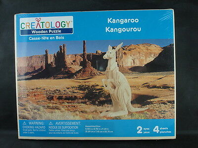 Creatology 3-d Wooden Puzzle Kit, Kangaroo, Nip