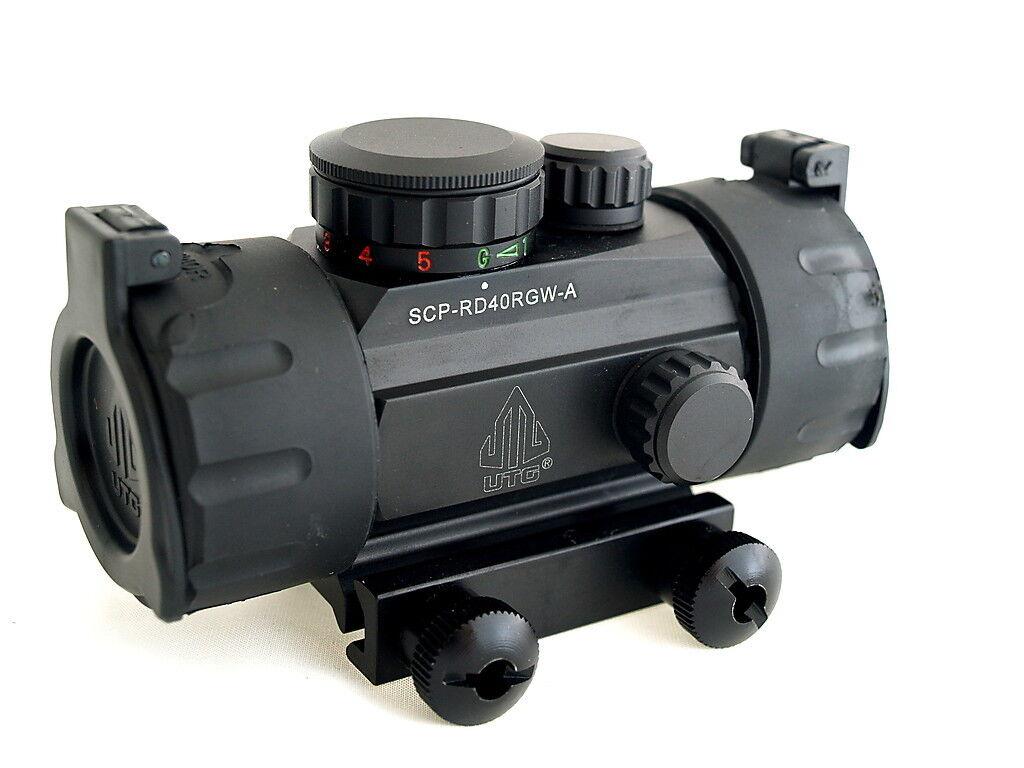 Utg Quick Aim Tactical Red Green Swat Dot Sight Scope Weaver Rail Mount Ita Cqb