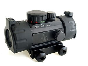 UTG-QUICK-AIM-TACTICAL-RED-GREEN-DOT-SIGHT-SCOPE-WEAVER-RAIL-MOUNT-ITA-CQB-NEW
