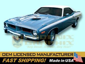 1973 1974 Plymouth Barracuda Cuda Decals Upper Body