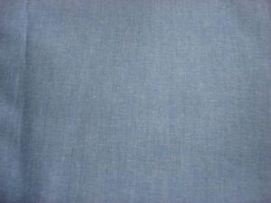 Cotton-Fabric-BLUE-CHAMBRAY-1-Yd-Medium-Weight