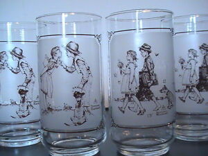 Brown & Bigelow Ltd. Ed. NORMAN ROCKWELL Glasses from 1949 !!