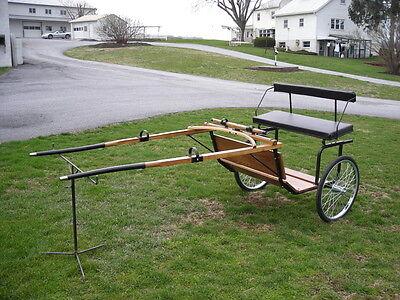 Amish Handcrafted Pony Horse Cob Jog Cart Wire Wheels Custom Made Free Ship
