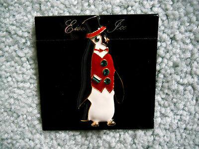 Eisenberg Ice Crystal Penguin Bird Brooch Pin